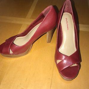 🛍BOGO🛍 Peep Toe Heels Cranberry Red